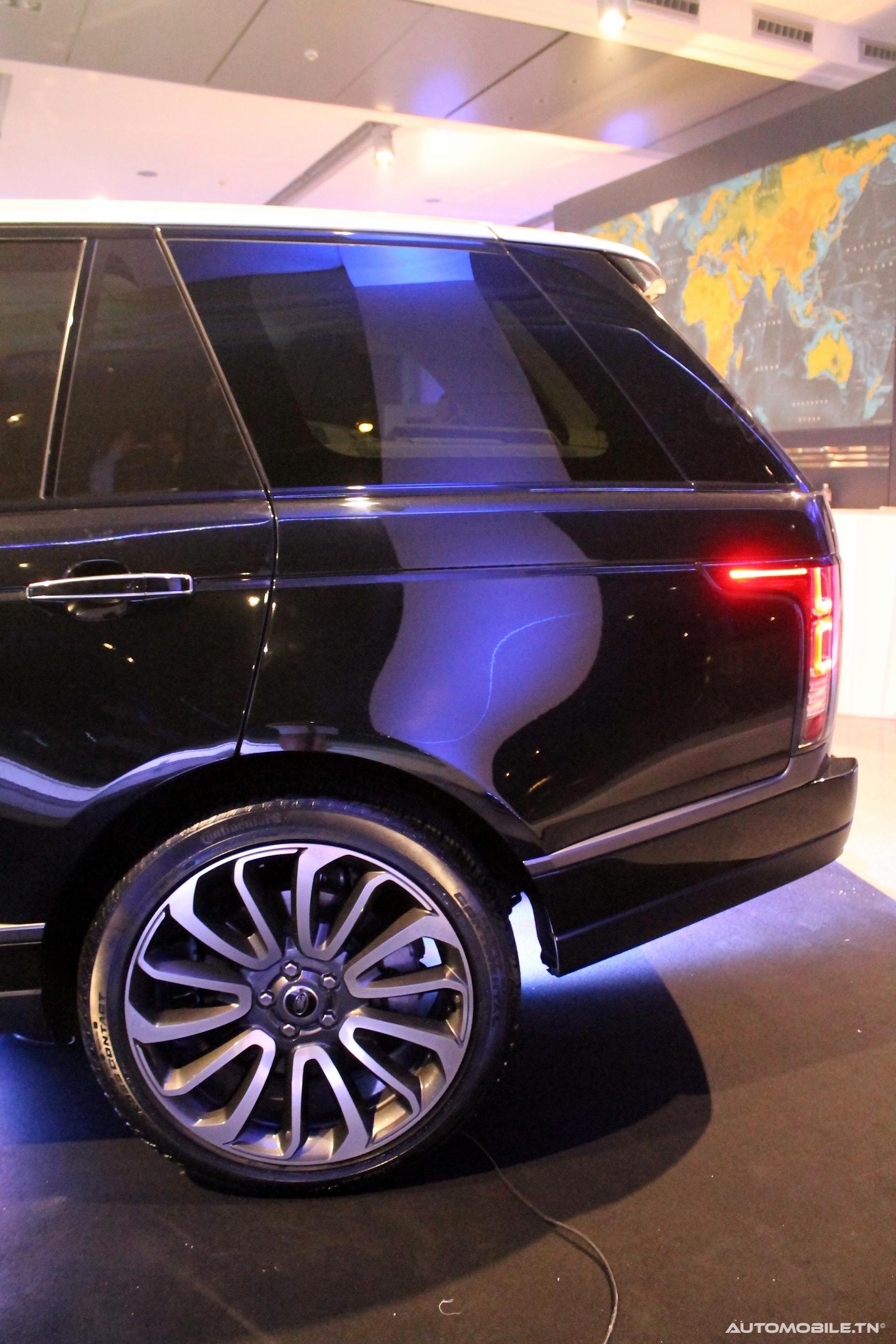 actu le nouveau range rover arrive en tunisie. Black Bedroom Furniture Sets. Home Design Ideas